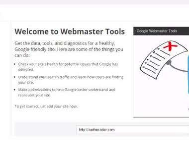 add url in google webmasters tools