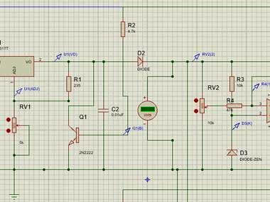 Design a Mains/solar/wind battery system using multisim simu