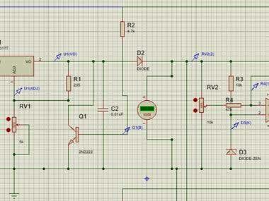 Design a Mains/solar/wind battery system using multisim simu
