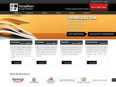 Wordpress Website- http://steadfastescrito.com/