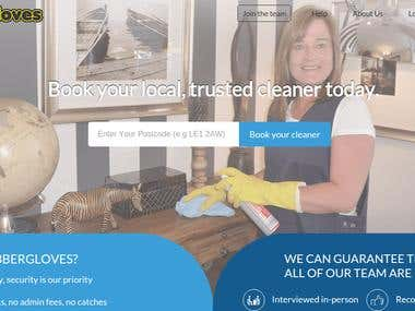 Ubbergloves- Cleaner Service Booking Website