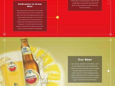 Amstel Website Redesign