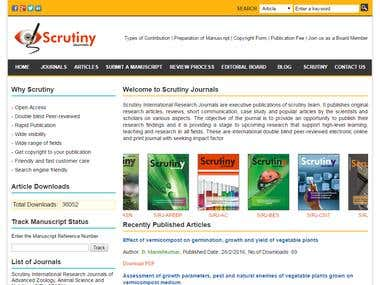 Online Journal Directory Portal