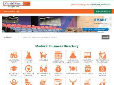 Online Business Directory Portal