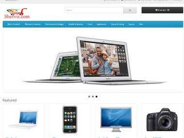shervir.com e-commerce site customization