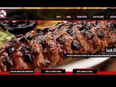 TGI Friday's El Salvador - Web Design