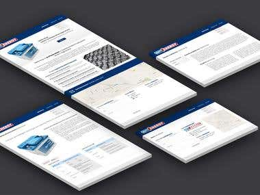Mockup web for company