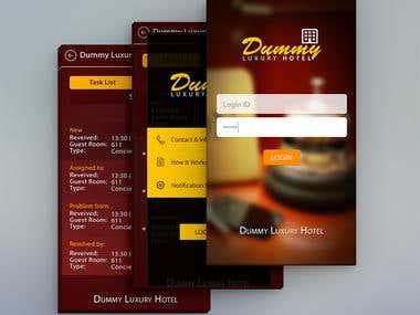 Mobile App | Luxury Hotel