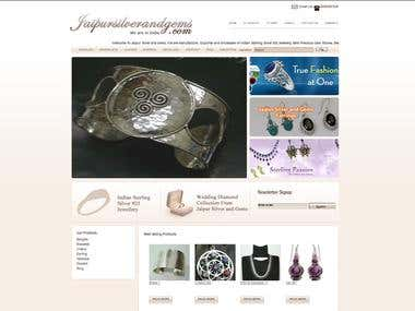 E-Commerce Shopping Cart for Silver & Gems Jewellery