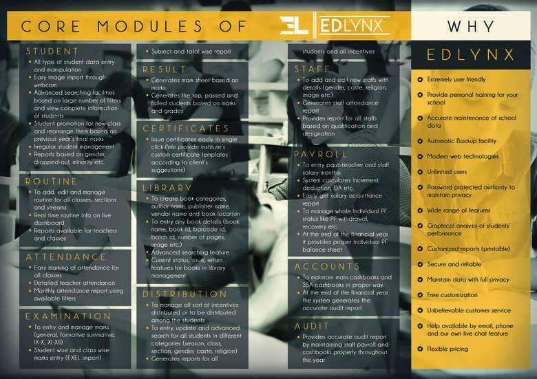 Brochure Of A School Management System Freelancer
