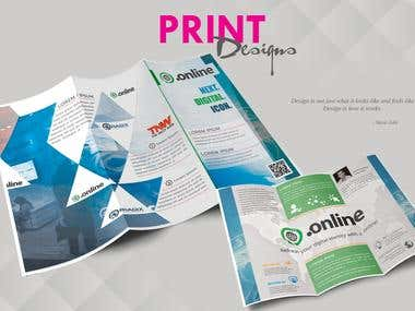 Print / Brochure Design/ TriFold Brochure