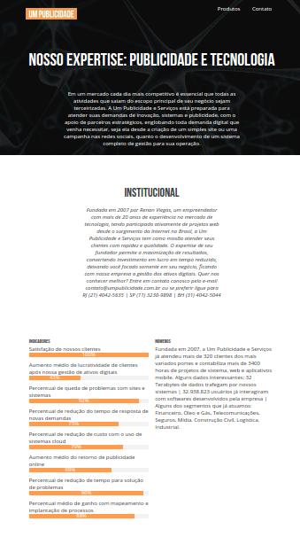 Um Publicidade - Brazilian Agency Website