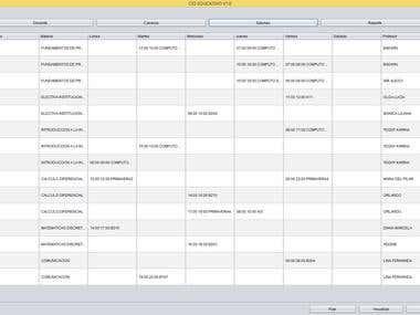 Java Horarios de clases mediante algoritmo Genético