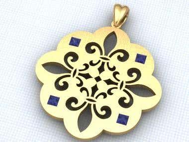 Fleur-de-lis pendants