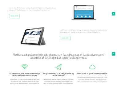 Salvis.dk Website designing