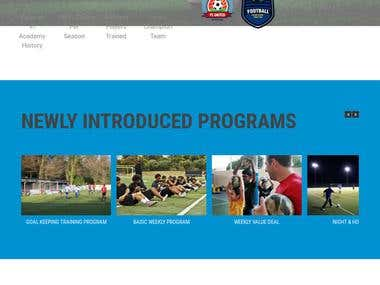 IFA Football Training Website Designing
