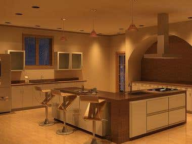 Kitchen Renvation - Interior Rendering