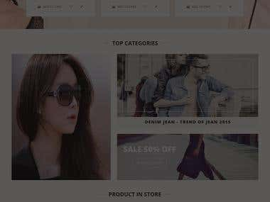Online Shopping Sites  develop in magento