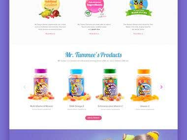 Mr Tumee: Website Design Concept