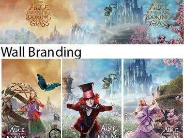 Alice Through the Looking Glass Branding