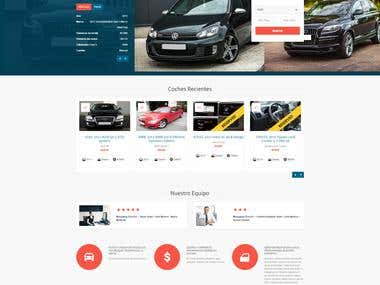 Dynamic website for online car selling