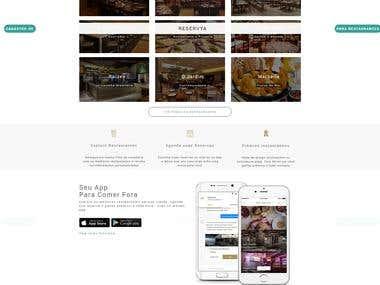 Best HTML design for mobile app landing page