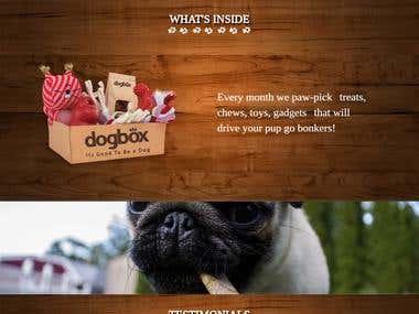 Online Food ordering website for Dog,  Dogbox.co.in