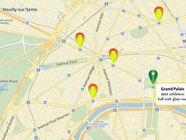 Special and beautiful look of your Google or Yandex map