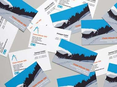 business cards for chalet