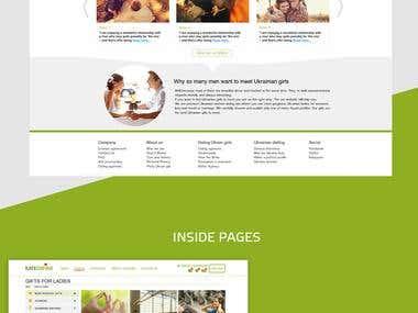 Online dating service design