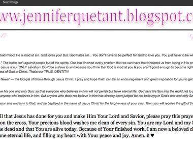 My faith inspired blog: Unashamed Faith