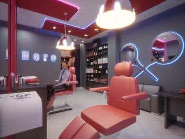 Barber's Shop Design & Visualization