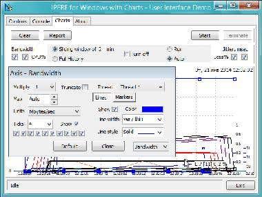 iPerf charts unit