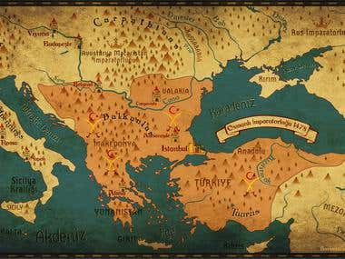 Vintage Map of Europe - XVth Century