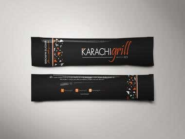 Sugar Packing Design for Karachi Grill Restaurant in Dubai