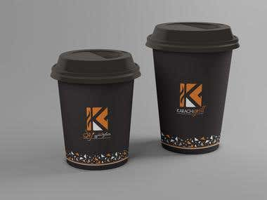 Coffee Cup Design for Karachi Grill Restaurant in Dubai