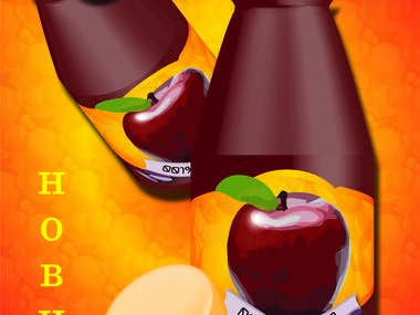 Apple juice poster