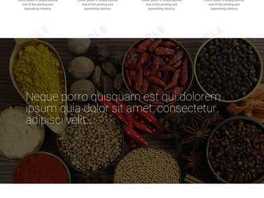 website mock