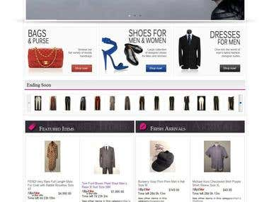 Creation of ebay store and listing template