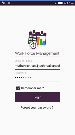 Workforce Management system ( QA for Web and Mobile App)