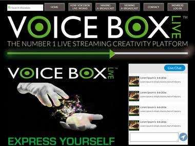 Voicebox Live streaming site