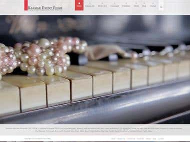 Wedding video maker's Wordpress website