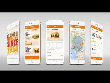 Nearest BK finding and Ordering App - BurgerKing