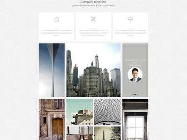 Organic Architecture WordPress theme