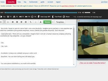 Video transcription (Port/BR) and translation into English