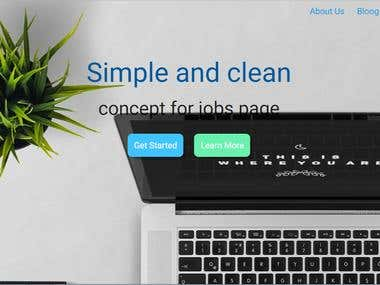 Simple and Clean concept minimalist for job page