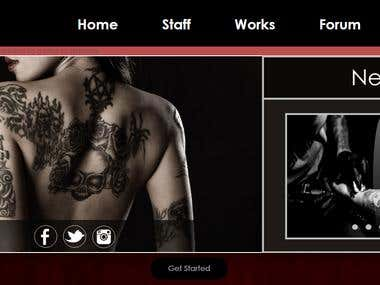 Tattoo shop web page