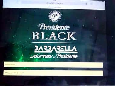 Promocional Web Application Presidente
