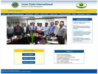 """lions315b4"" Organization Website"