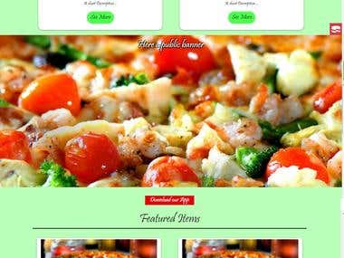 Restaurant Template web for a fast food